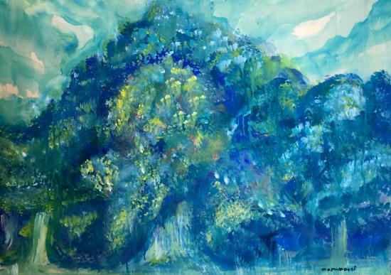 「ミズノモリ 」―代々木らへんの神さま絵