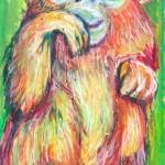 キンシコウ Golden snub-nosed monkey