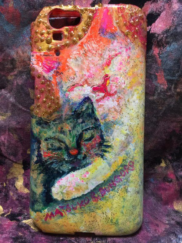 スマホカバー 猫の「松子&ぶんごろう」