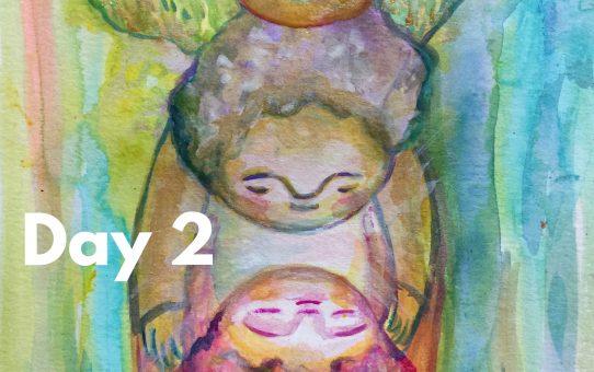 Advent art Day 2 「コンタクト」