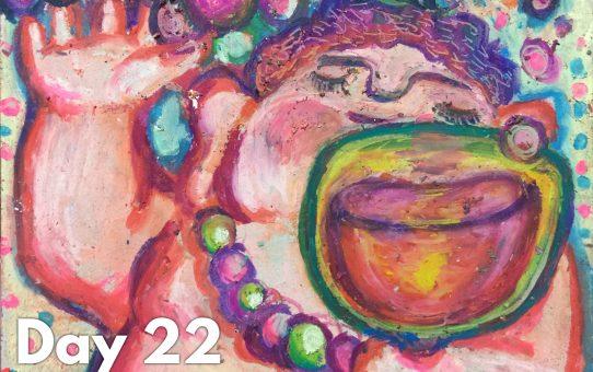 Advent art Day 22「バッカスさん」
