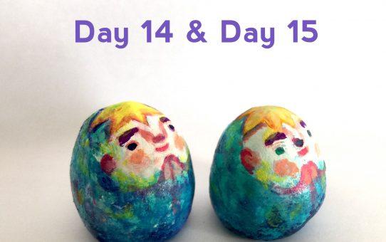 Advent art Day 14&15「ふたご座流星群のテノリイノリ」