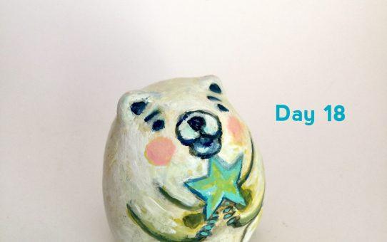 Advent art Day 18「ホッキョクグマ」