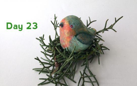 Advent art Day 23 「ロビンのテノリイノリ」